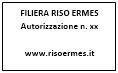 Etichetta riso Ermes prodotto di filiera certificata